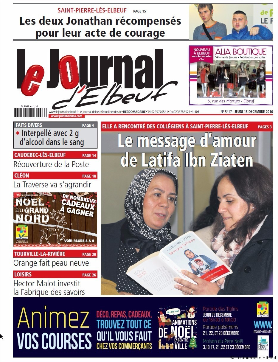 Elbeuf la une du journal d 39 elbeuf du jeudi 15 d cembre for Magazine le journal de la maison